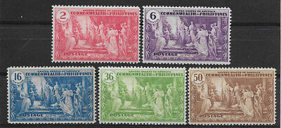 Philippines , Usa , 1935 , Commonwealth Issue , Set Of 5  Stamps ,  Perf, Mnh