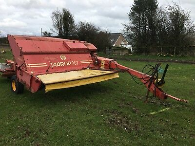 mower conditioner Taarup 307 with the yellow stripes 9ft cut Tarrup