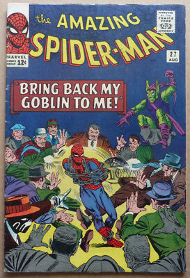 Amazing Spider-Man #27, Original Early Silver Age Classic, 1965.