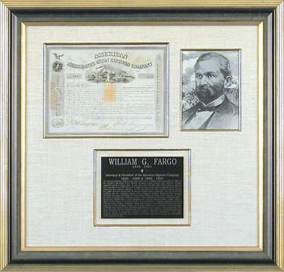 American Merchants Union Express Co. - Stock Certificate Signed 09/30/1869