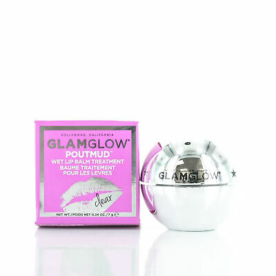 GlamGlow PoutMud Wet Lip Balm Treatment Clear 0.24oz/7g NEW IN BOX