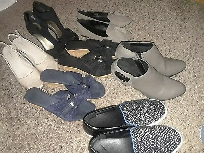 womens shoe lot size 8, 7 pair(1 size 7, 2 size 7 1/2, 4 size 8.All fit like 8