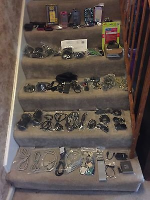 Lot 92 Items cell Phones & Computer Items Otter Box Cases Sim Card Cables Phones
