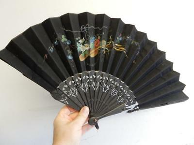 REALLY OLD  hand painted  LADIES FAN