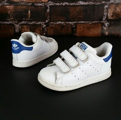 Adidas Originals Stan Smith Infant Toddler Shoes Footwear White Blue Size 8C 6a169673c