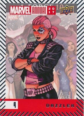 #4 DAZZLER (2018) 2017 Upper Deck Marvel Annual A-FORCE X-MEN