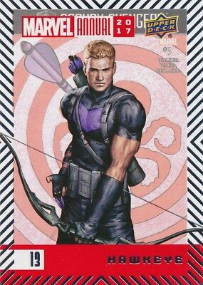 #13 HAWKEYE (2018) 2017 Upper Deck Marvel Annual AVENGERS