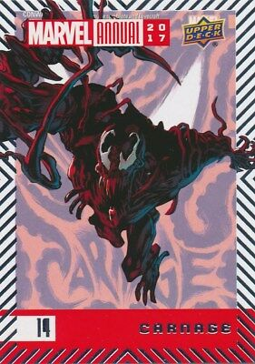 #14 CARNAGE (2018) 2017 Upper Deck Marvel Annual SPIDER-MAN