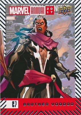 #67 BROTHER VOODOO (2018) 2017 Upper Deck Marvel Annual AVENGERS