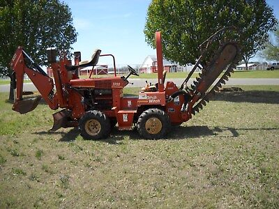 Ditch Witch 3700DD Trencher w/ A322 Backhoe-Equipped w/H311 Hydraulic Trencher