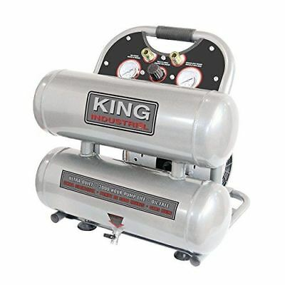 King Canada KC-4620A Ultra-Quiet Oil-Free Air Compressor 4.6 Gallon
