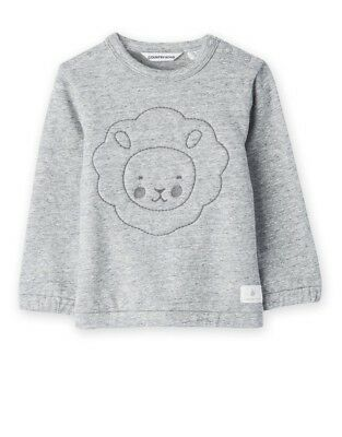 Country Road Grey Stitch Lion Sweater Jumper for Baby Girls Boys 000