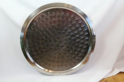 Large San Marino Serving Plate Stainless Silver Platter / Tray 24 inches Round
