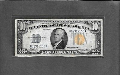 1934A $10 Silver Certificate - WWII North Africa Note