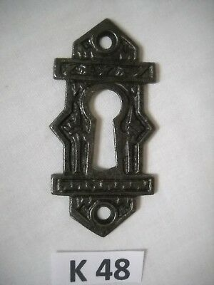 Antique Victorian Eastlake Cast Iron Keyhole Cover