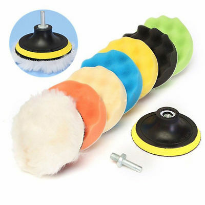 "9Pack 4""-7"" Polishing Waxing Buffing Sponge Pad Kit Compound Car Polisher Drill"