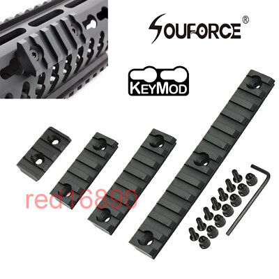 4/5/7/13slots Keymod 20mm Picatinny Weaver Rail Section Mount for rifle Alum