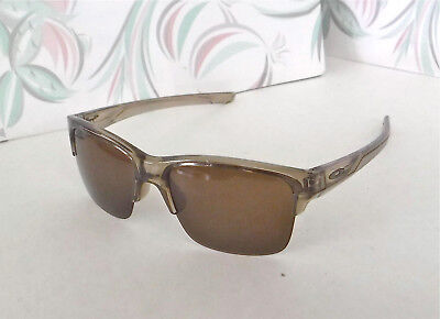 82791bc7ee095 NWOT 100% Authentic Oakley Thinlink Sunglasses Sepia Frames   Dark Bronze  Lens