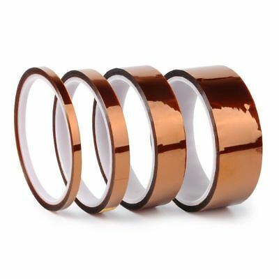 5/10/20/50mmX100ft Heat Resistant High Temperature Polyimide Kapton Tape Useful