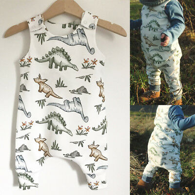Newborn Baby Boy Toddler Dinosaur Romper Jumpsuit Playsuit Summer Clothes Outfit