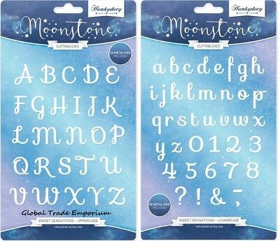 Hunkydory - Moonstone Sweet Sensations UPPERCASE & LOWERCASE ALPHABET Die Sets