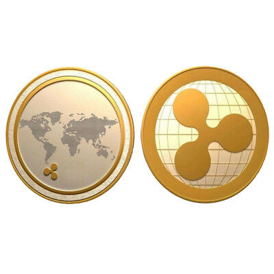 Ripple Coins Ripple Badge Mini Golden 4*4*0.25cm Collectors Non-Currency Coins