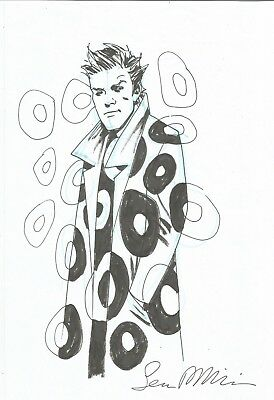 Sean Phillips original art - Shade the Changing Man! Awesome convention sketch!