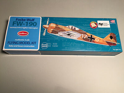 Guillow's Focke-Wulf FW-190 Holzbausatz Lasercut WWII Guillow Guillows KIT 502