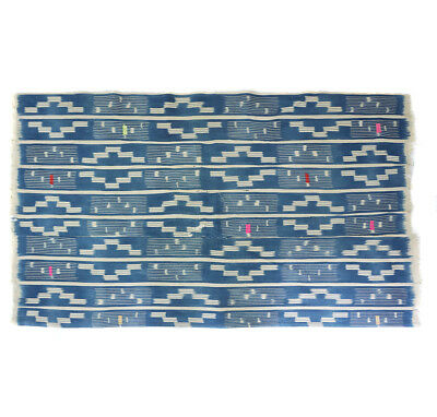 Vintage Baule ikat embroidered cloth from Cote d'Ivoire, West Africa BL43