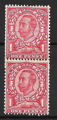 Sg 345 N12 1d Scarlet Downey Head Coil Join MOUNTED MINT to top stamp