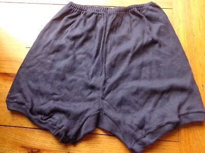 VINTAGE 1960's NAVY BLUE COTTON REGULATION SCHOOL KNICKERS SIZE 18