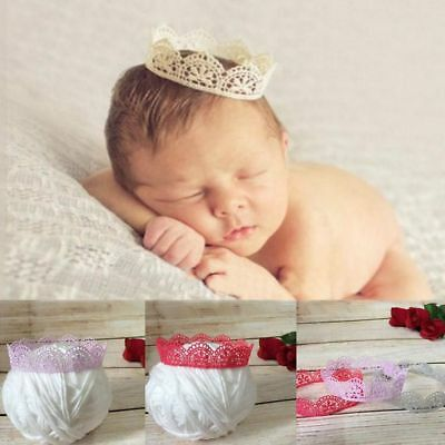 Photography Props Lace Crown Headband Newborn Accessories Baby Hairband