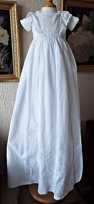 Antique Christening Gown/baby/ayrshire Work