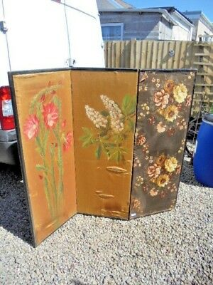 Victorian 3 Fold Screen For Restoration Or Up Cycle  Collection West Wales