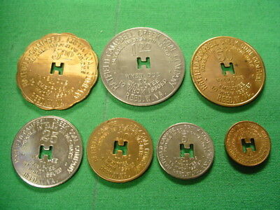 WV Coal Scrip Tokens 7 PC Set-Hatfield Campbell Ck. Coal-Reed-WV-Kanawha County