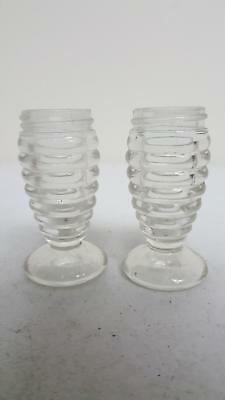 Salt and Pepper Shakers w/out Lid Clear Glass Container Condiment Dispensers