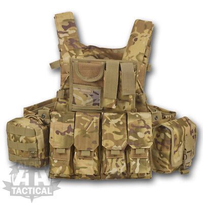 Mtp  Multicam Commanders Assault Vest British Army Style Military