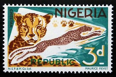 NIGERIA 1969 - 3d Leopard with Larger Sized Imprint at Bottom U/M NF855