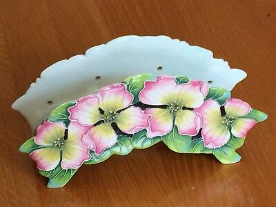 J McCall Icing On The Cake Dogwood Bloom 3 Tea Light Holder 2005 Blue Sky