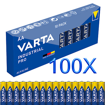 100x Mignon AA / LR6 - Batterie Alkaline, VARTA Industrial 4006 1,5V, Long-Power
