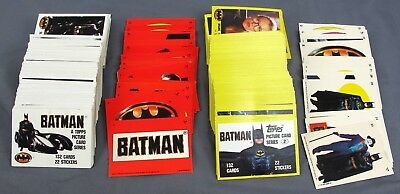 1989 DC Comics Batman the Movie Series 1 & 2 Complete Card Sets w/ 42 Stickers