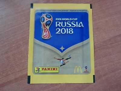 1x RUSSIAN Panini Stickers Tüten McDonalds WM 2018 Russia World Cup OVP NEU