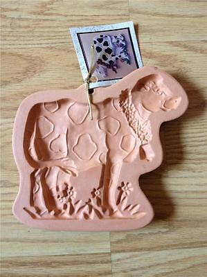 "COTTON PRESS Clay ""COUNTRY COW"" COOKIE PRESS-MOLD with TAG"