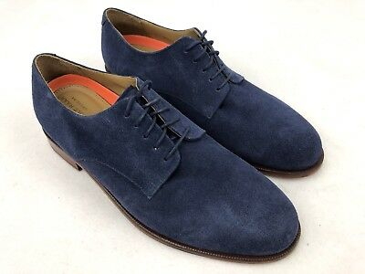 Cole Haan Grand OS Mens Blue Suede Leather Oxford Shoes SUPERB 10 M