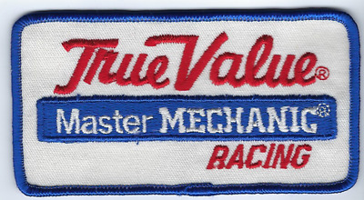 "True Value Master Mechanic Racing Patch 4.75"" x 2.5"" Vintage Iron On"