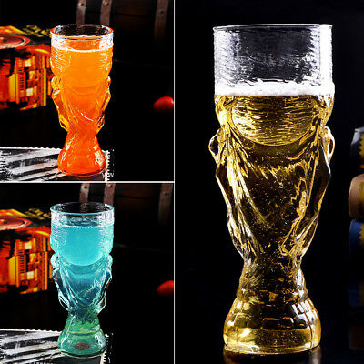 World Cup Design Crystal Glass Beer Drink Water Mug Bar 350ml Gift Box UK Local