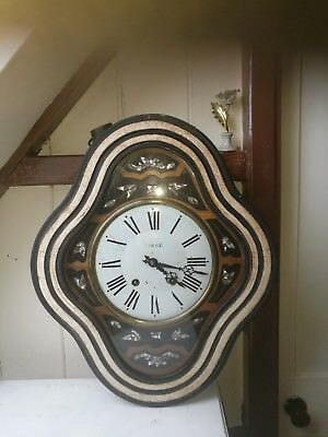 Comtoise Picture Clock 580nn tall, 480mm across, 135mm deep, working properly