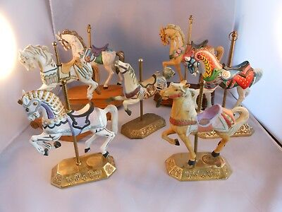 Willitts Lot  of 7 Carousel Horses --Music Boxes, Rocking Horse Collection