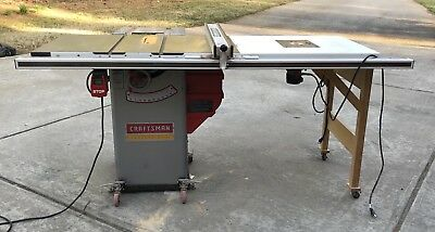 Sears Craftsman Professional Cabinet Table Saw With Porter Cable Router