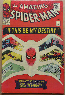AMAZING SPIDER-MAN #31, ORIGINAL SILVER AGE with 1st. APPEARANCE OF GWEN STACY.